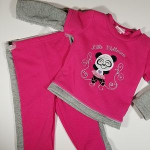 NEW Mon Petit Cozy sweatsuit-12M